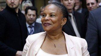 France : La députée de Guyane Christiane Taubira,  fait son entrée dans le gouvernement