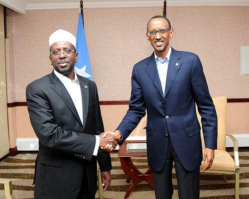 Perezida wa Somalia ari mu ruzinduko mu Rwanda