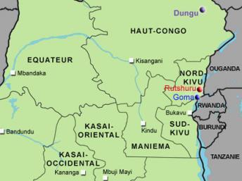 RDC : l'ONU bombarde des positions du M23 à Rutshuru, dans le Nord-Kivu.