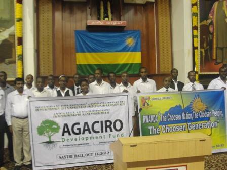 U Buhinde : Abanyarwanda biga muri Kaminuza ya Annamalai batanze umusanzu ugenewe AgDF