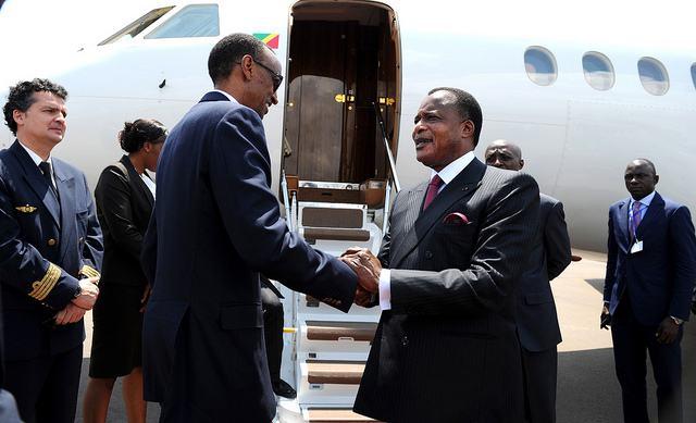 Perezida Sassou N'Guesso yasoje uruzinduko yagiriraga mu Rwanda kuri iki cyumweru