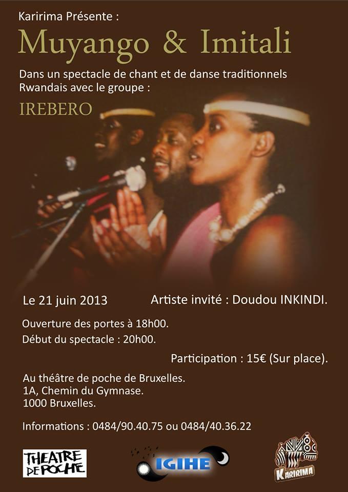 Une soirée culturelle rwandaise haute en couleurs à Bruxelles