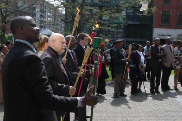 Charleroi : Abanyarwanda bibutse ku nshuro ya 19 Jenoside yakorewe Abatutsi