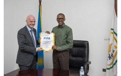 Infantino à Kigali : Rwanda prêt à satisfaire les standards sportifs olympiques exigés par la FIFA