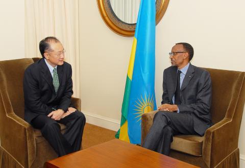Le président de la Banque mondiale Jim Yong Kim en visite ce mardi à Kigali
