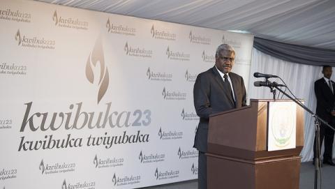 L'UA commémore le 23e anniversaire du génocide perpétré contre les Batutsi du Rwanda