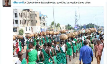 Burundi : Inhumation du Tambourinaire Baranshakaje à Gishora, GITEGA
