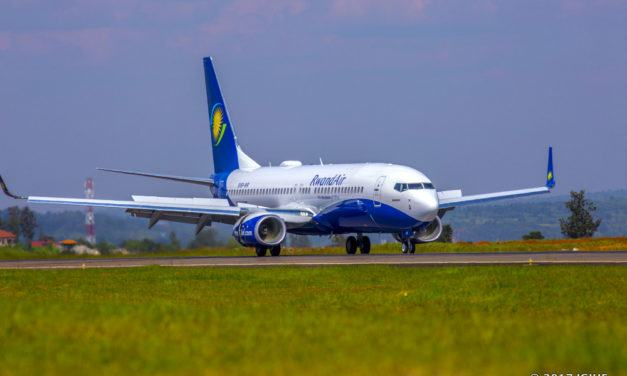 Indege ya kane ya Boeing 737-800NG ya RwandAir yageze mu Rwanda