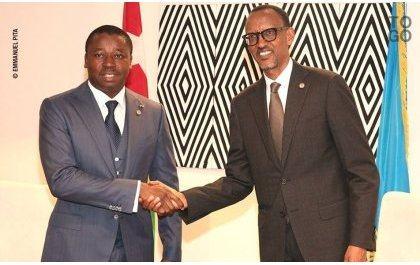 Perezida Kagame yahuye na Faure Gnassingbé wakozwe ku mutima n'iterambere ry'u Rwanda