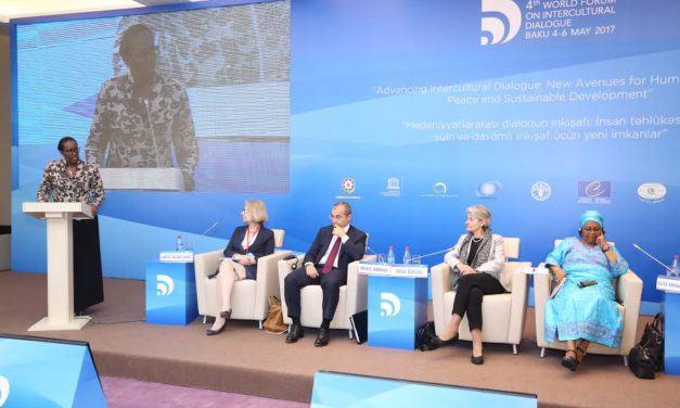 Jeannette Kagame participe à Bakou au Dialogue interculturel mondial