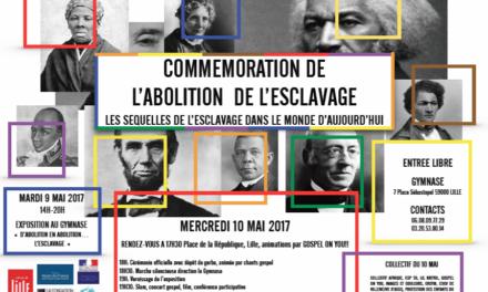 COMMÉMORATION DE L' ABOLITION DE L'ESCLAVAGE À LILLE