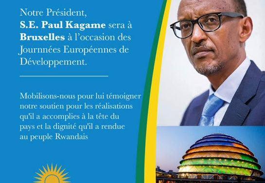 Le Président Paul Kagame à Bruxelles, 7-8 juin 2017