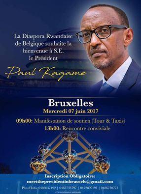 La Diaspora Rwandaise de Belgique souhaite la bienvenu à S.E Paul Kagame