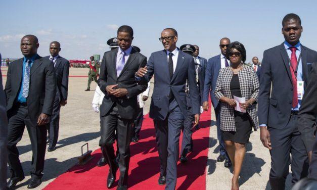 Le président Paul Kagame répond a l'invite de son homologue zambien