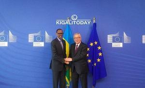 BRUXELLES : Accueil Chaleureux des Rwandais au Président Kagame aux Journées Européennes de Développement.