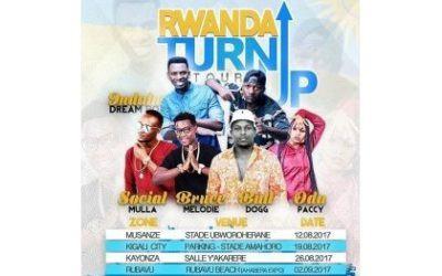 Cinq artistes invités dans le 'Rwanda Turn Up'