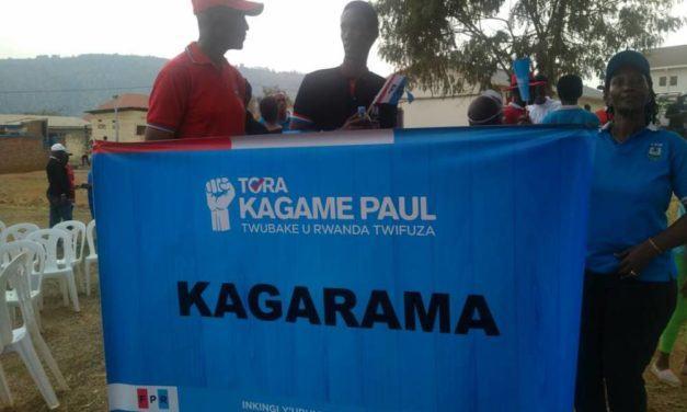 """Une campagne électorale du FPR à Kagarama de Kicukiro : """"C'est Lui et Personne d'Autre""""."""