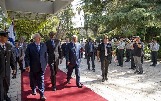 Netanyahou et Rivlin ont réservé un salut commun au Président Kagame à Jérusalem