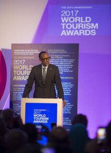 Paul Kagame récompensé pour de son leadership visionnaire en matière de tourisme durable
