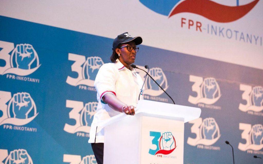 Jeannette Kagame lors du Congrès de la Ligue Féminine du FPR: «N'ayons pas peur de participer au développement du pays»