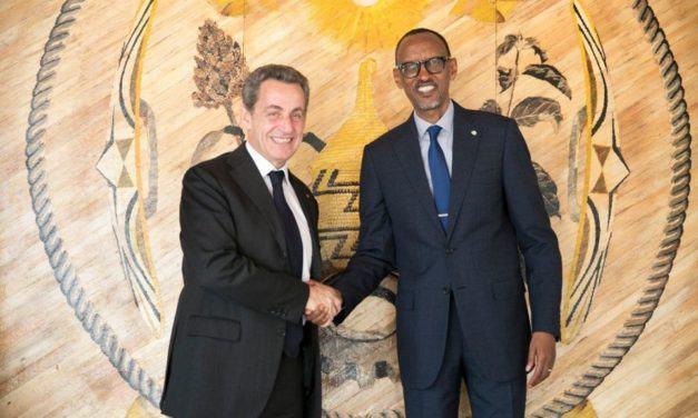 Le Président Paul Kagame reçoit à Kigali, Nicolas Sarkozy, ancien Président français