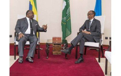 Perezida wa Gabon Ali Bongo yageze mu Rwanda (Amafoto)