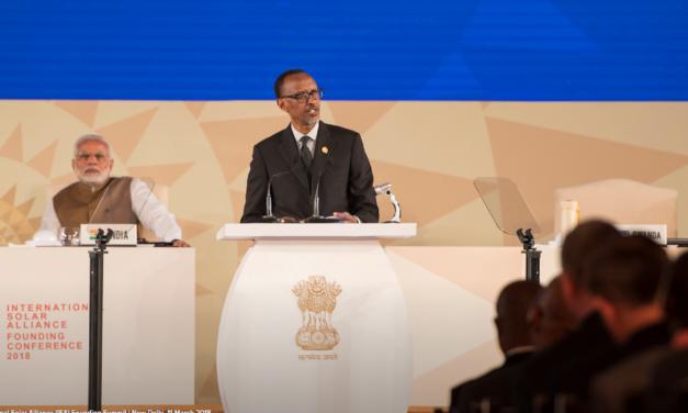 Le Président Paul Kagame mobilise le secteur privé pour le financement de l'énergie solaire (New Delhi – Inde).