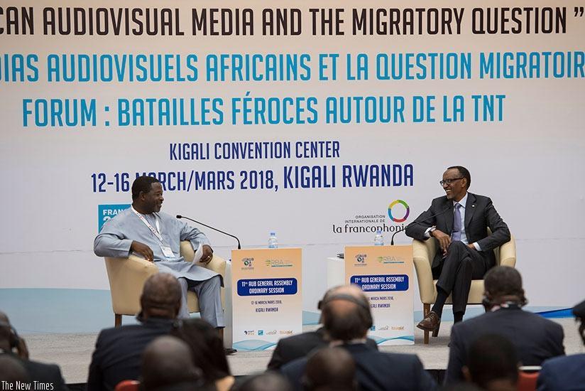 Le Président Paul Kagame lors de l'AG de l'Union Africaine de Radiodiffusion – pourquoi devons-nous payer d'énormes droits de diffusion à l'étranger pour nos propres compétitions sportives