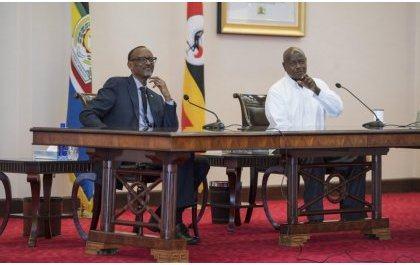 Kagame à Kampala pour tasser tous les problèmes entre l'Uganda et le Rwanda