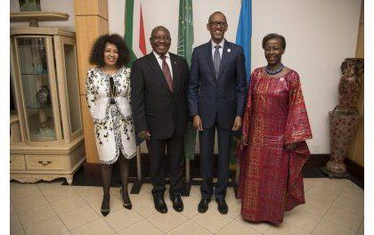 Cyril Ramaphosa à Kigali s'engage à régler la question de visa entre Afrique du Sud et Rwanda
