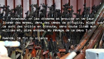 GENOCIDE : Livraison d'Armes à nos Alliés, les Génocidaires.