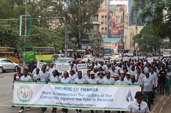 Les Rwandais vivant au Kenya ont célébré la 24ème commémoration du génocide contre les Tutsis avec une marche pacifique à Nairobi.