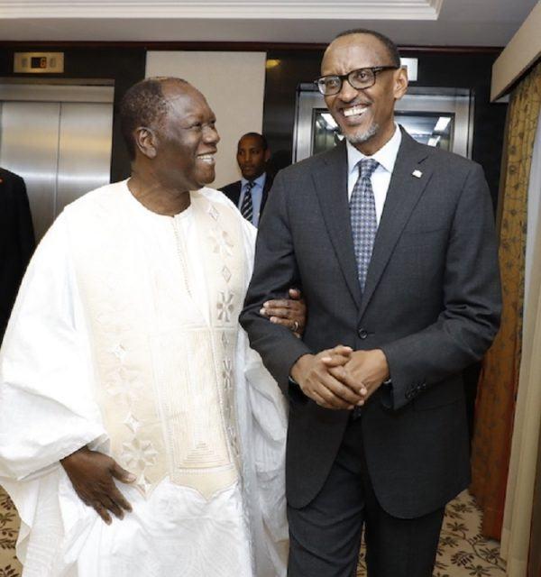 Rwanda – Les présidents Paul Kagame et Alassane Ouattara se rencontrent à Kigali