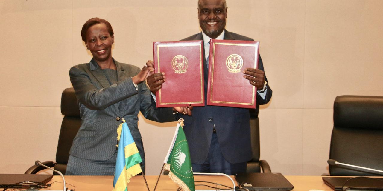 Le Rwanda dépose ses instruments de ratification de l'accord sur la zone continentale africaine de libre échange et le protocole sur la libre circulation des personnes et le passeport africain