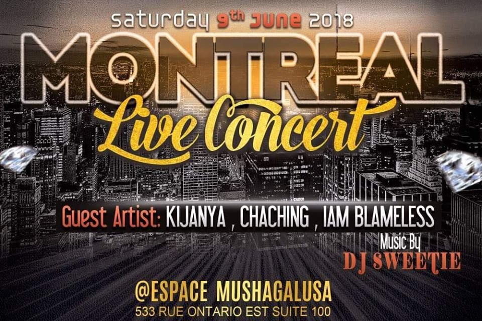 MONTREAL LIVE CONCERT SATURDAY 09 JUNE 2018