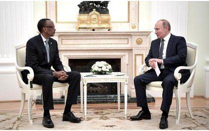 Perezida Kagame na Putin bagaragaje inyota yo kongera umubano w'u Rwanda n'u Burusiya