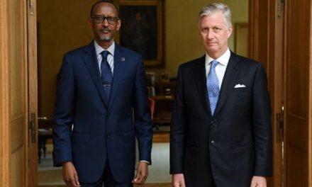 Le Président Kagame a été reçu par le Roi Philippe de Belgique