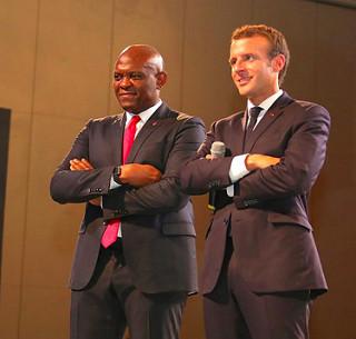 La Fondation Tony Elumelu a accueilli une session interactive avec Macron et 2000 jeunes entrepreneurs africains