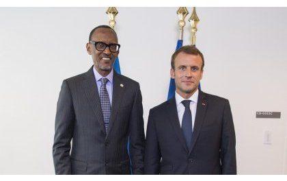 Perezida Kagame yagiranye ibiganiro na Emmanuel Macron w'u Bufaransa