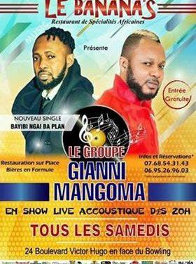 Soirée concert tous les samedis au BANANA'S   – LILLE