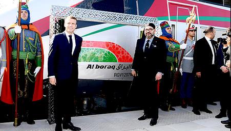 Sa Majesté le Roi Mohammed VI et le Président français inaugurent le Train marocain à Grande Vitesse «Al BORAQ»