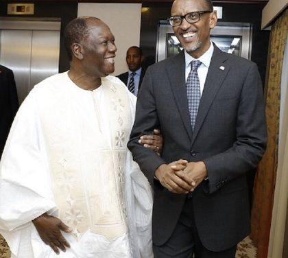 Le Président Paul Kagamé à Abidjan ce 19 décembre. Ce qu'Il Vient Faire !