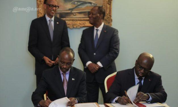 La Côte d'Ivoire conclut quatre accords de coopération majeurs avec le Rwanda
