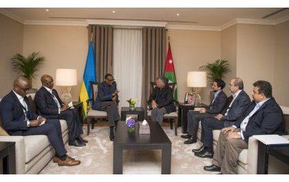 Le President Paul Kagame chez Abdullah II Bin Al Hussein de Jordanie