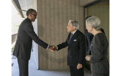 Le Président Kagame et Mme reçus par l'Empereur du Japon.