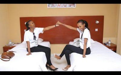 Abakobwa bageze mu byumba bazabamo  Miss Rwanda 2019