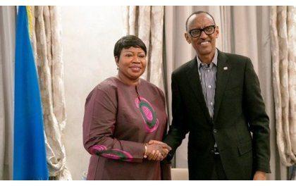 Le Président Kagame s'est entretenu avec la Procureure de la CPI