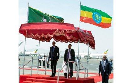 Perezida Kagame yageze i Addis Ababa mu nama azatangamo inshingano za AU