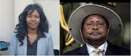 RWANDA – UGANDA  :  Le Président Museveni Rencontre charlotte Mukankusi, un Officiel du Rwanda National Congress