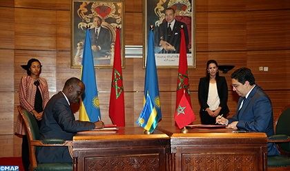 MAROC-RWANDA  :  Grande Commission Mixte Signature de 12 Accords de Coopération